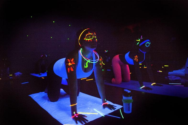 New Years Eve Blacklight Disco Yoga